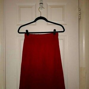 Dresses & Skirts - Red Knit Skirt